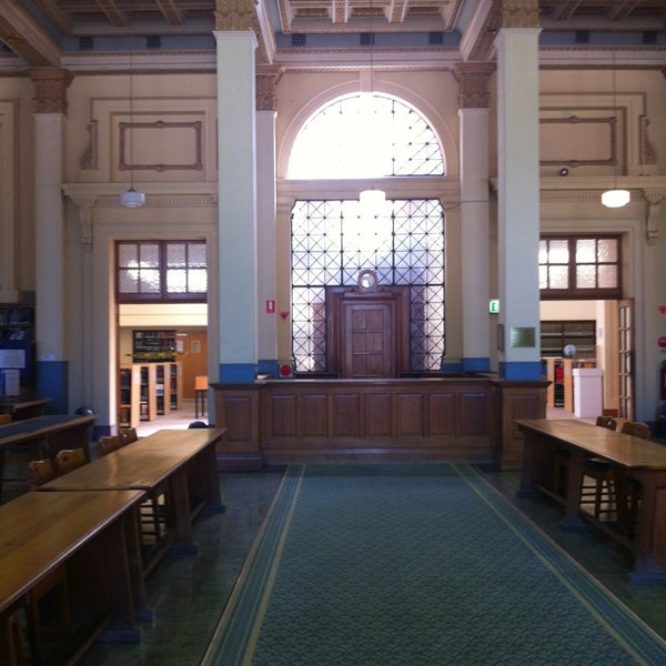 Photo taken at Barr Smith Reading Room by Pru M. on 1/2/2013