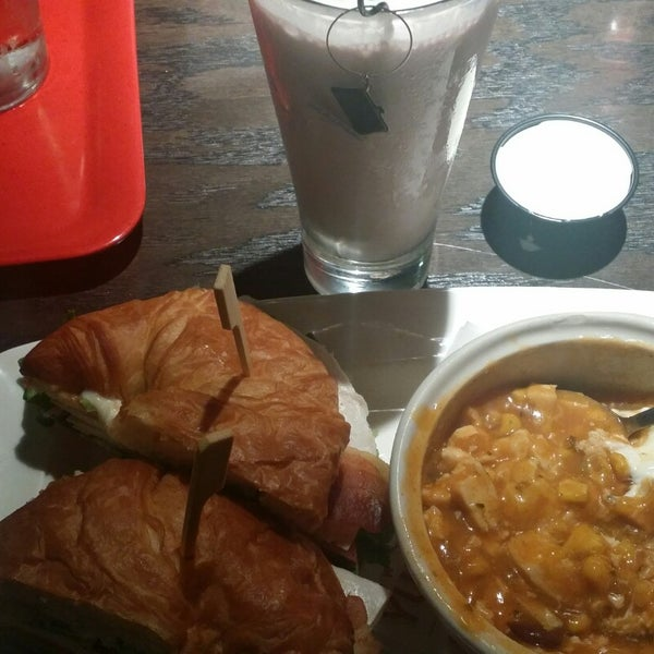 """The """"Chicken Tortilla"""" soup and the """"BLTA Croissant Sandwich,"""" are amazing together.  Their new """"Red Wine Shake"""" is a little strong, but still really good and expected to be strong for red wine anyway"""