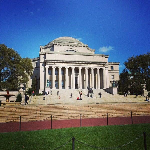 Photo taken at Columbia University Sculpture Garden by Valiko B. on 10/26/2013