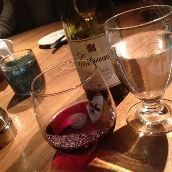 If you're gonna get a bottle of wine, ask for proper wine glasses. You won't regret it!