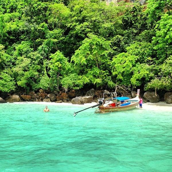 Photo taken at Phi Phi Island by Ali Rıza B. on 6/14/2013