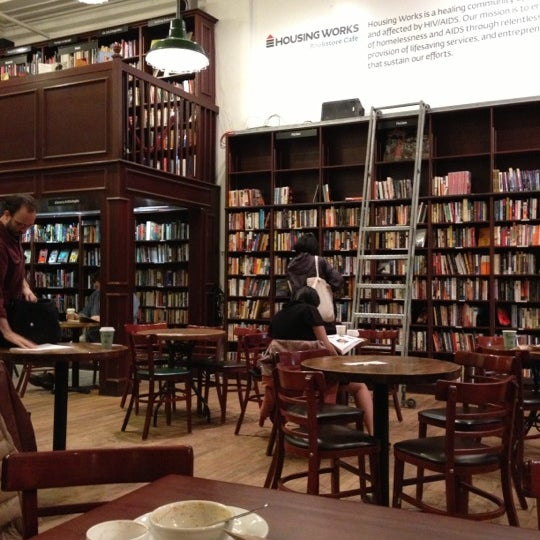 Photo taken at Housing Works Bookstore Cafe by Ricardo F. on 10/25/2012