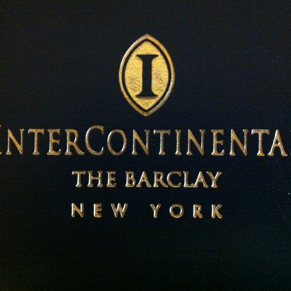 Photo taken at InterContinental New York Barclay by Ahmet E. on 1/3/2013