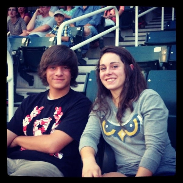 Photo taken at Brent Brown Ballpark by Kristen C. on 9/3/2013