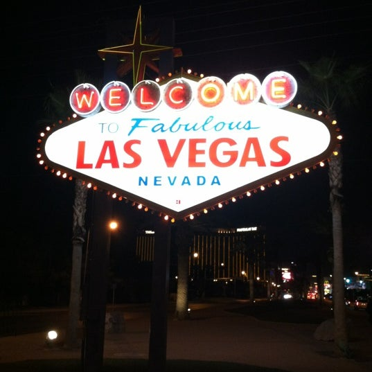 Photo taken at Welcome To Fabulous Las Vegas Sign by Gary K. on 11/25/2012