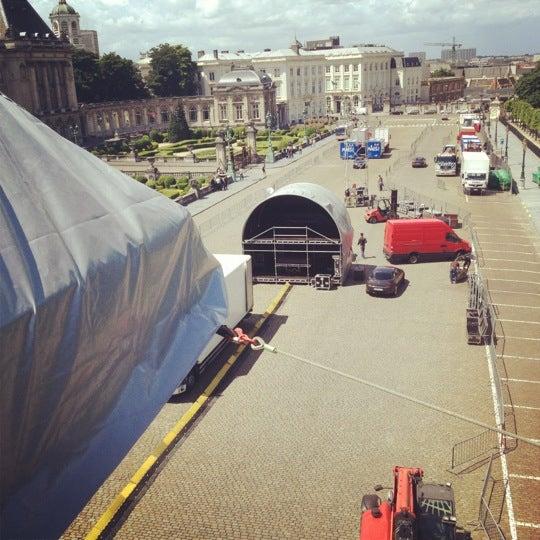Photo taken at Paleizenplein / Place des Palais by David R. on 6/22/2012