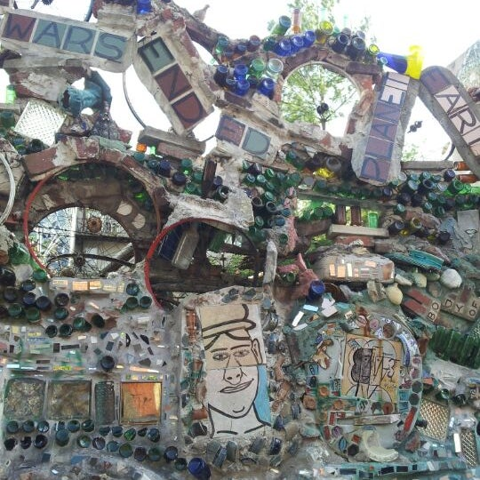 Photo taken at Philadelphia's Magic Gardens by Emily Y. on 4/8/2012