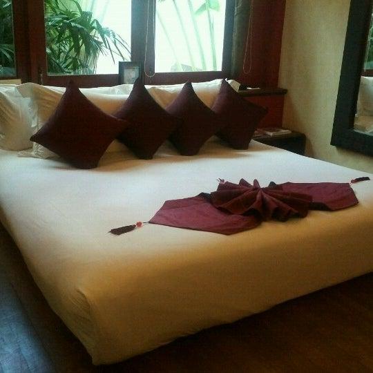 Photo taken at Zazen Boutique Resort & Spa by savas k. on 6/9/2012