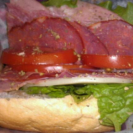 Photo taken at Frankie's South Philly Cheesesteaks and Hoagies by tawnie k. on 4/27/2012