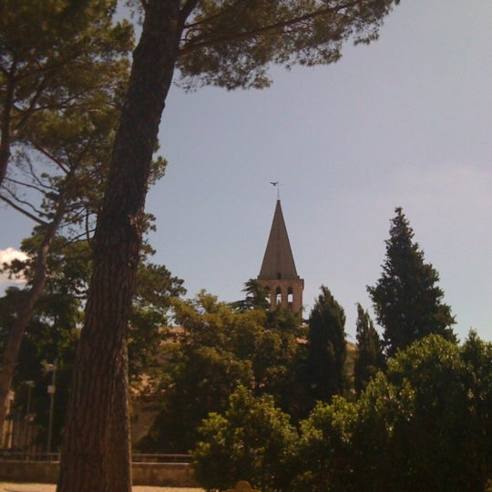 Photo taken at Basilica di San Fortunato by Elisa P. on 6/13/2012