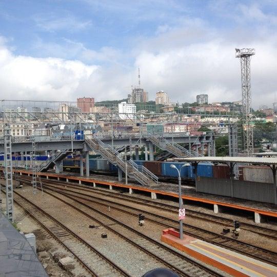 Photo taken at Железнодорожный вокзал Владивостока / Vladivostok Railway Station by Elena on 8/11/2012