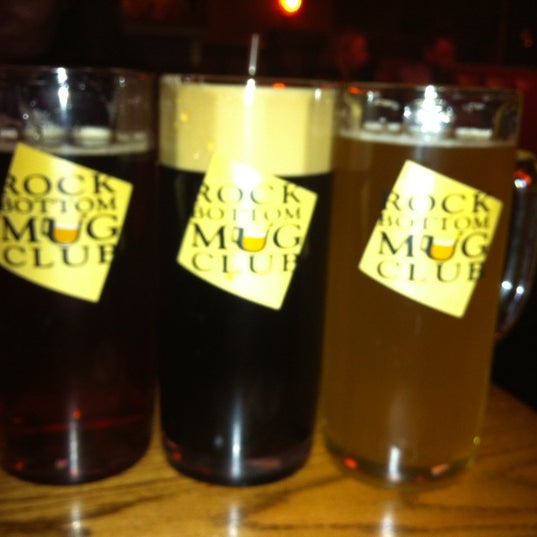 Photo taken at Rock Bottom Restaurant & Brewery by Lubo M. on 3/11/2012