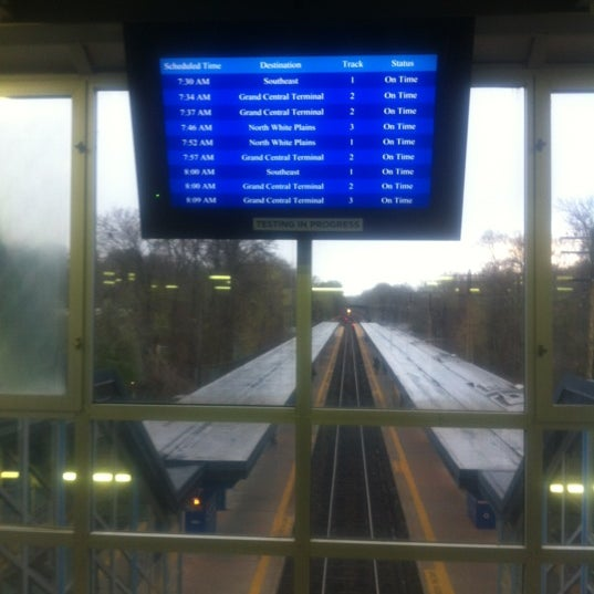 Photo taken at Metro North - North White Plains Station by Rob C. on 4/11/2012