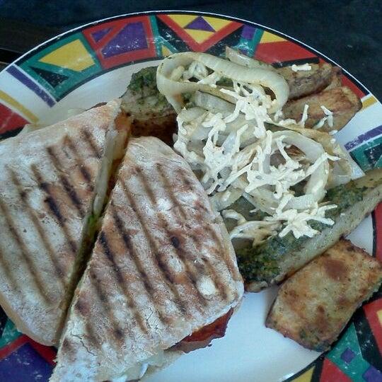 Photo taken at Sugar Plum Vegan Cafe by Jen on 7/10/2012