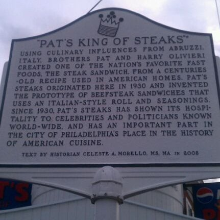 Photo taken at Pat's King of Steaks by Andrew A. on 11/13/2011