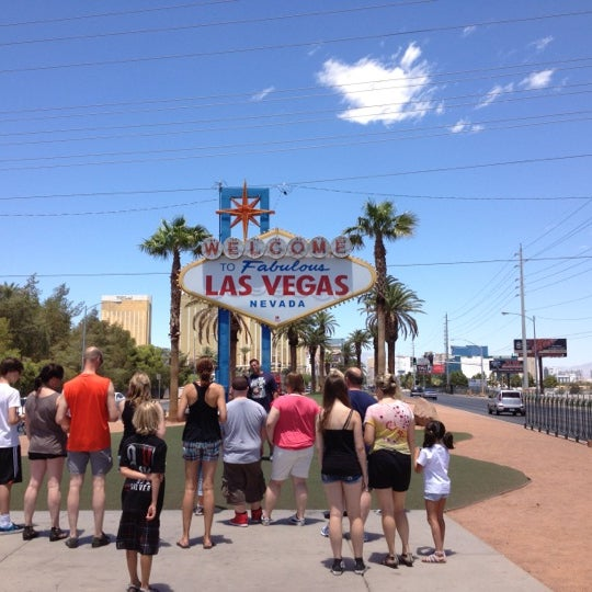 Photo taken at Welcome To Fabulous Las Vegas Sign by Andre J. on 6/27/2012