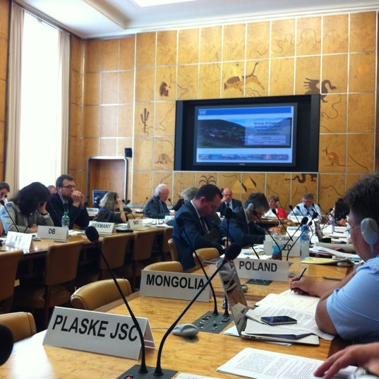 Photo taken at Palais des Nations by Ivan L. on 7/2/2012