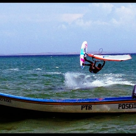 Photo taken at Playa El Yaque by Samuel P. on 6/29/2012
