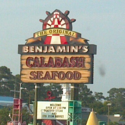 Photo taken at The Original Benjamin's Calabash Seafood by Opalized Designs S. on 7/3/2012