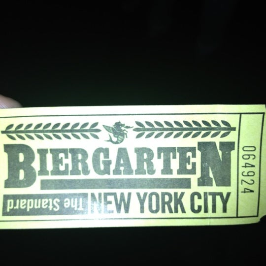 Photo taken at The Biergarten at The Standard by Ray on 5/27/2012