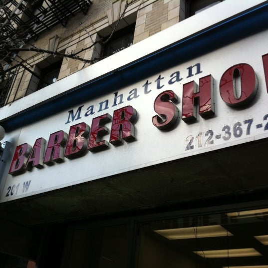 Photo taken at Manhattan Barber Shop by Max B. on 3/11/2011