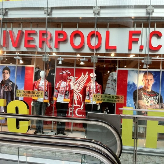 Photo taken at Liverpool FC Official Club Store by Jom on 5/3/2012