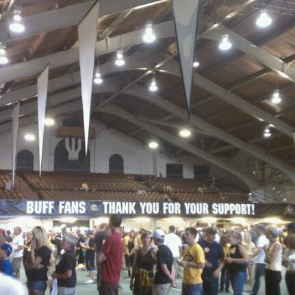 Photo taken at Balch Fieldhouse by Todd W. on 10/1/2011