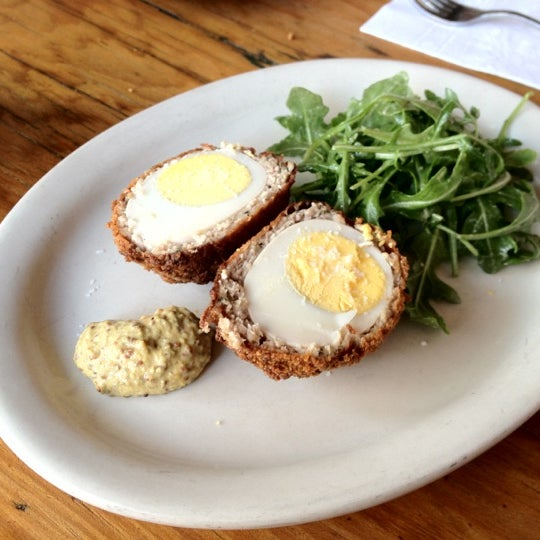 Two words...  Scotch Egg.