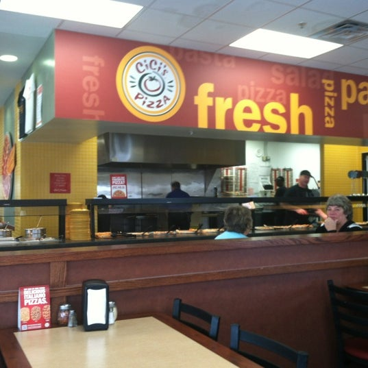 Photo taken at Cicis by JoAnn H. on 4/26/2012