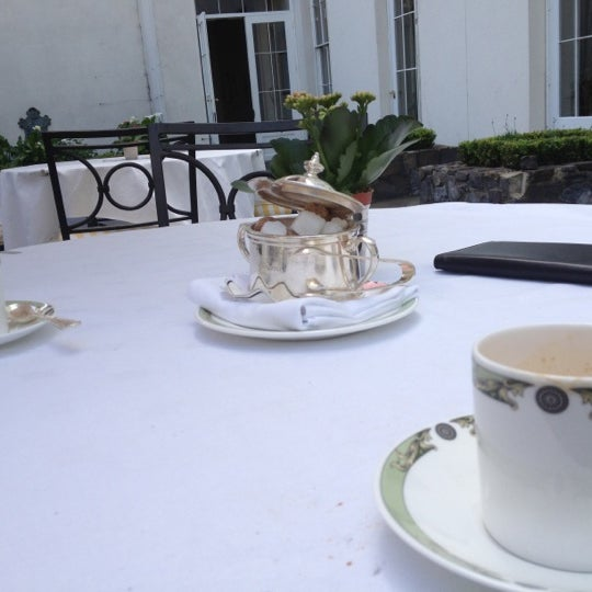 Photo taken at Merrion Hotel by Laurence H. on 5/23/2012