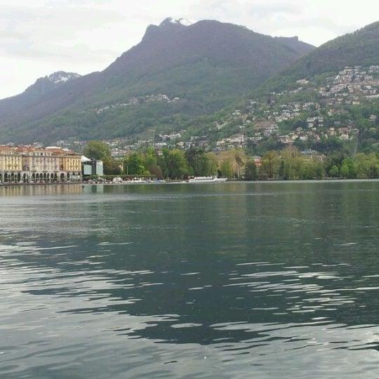 Photo taken at Lago di Lugano by Gianluca M. on 4/26/2012
