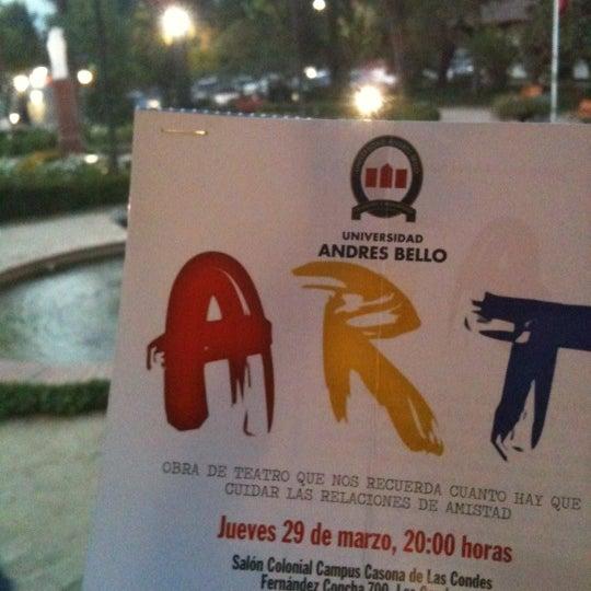 Foto tomada en Universidad Andrés Bello por Roberto C. el 3/29/2012