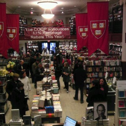 Photo taken at Harvard Coop Society Bookstore by Wendy S. on 12/11/2011