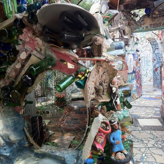 Photo taken at Philadelphia's Magic Gardens by cheddaryeti on 5/16/2012