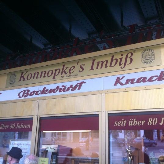 Photo taken at Konnopke's Imbiß by Christian H. on 6/1/2012