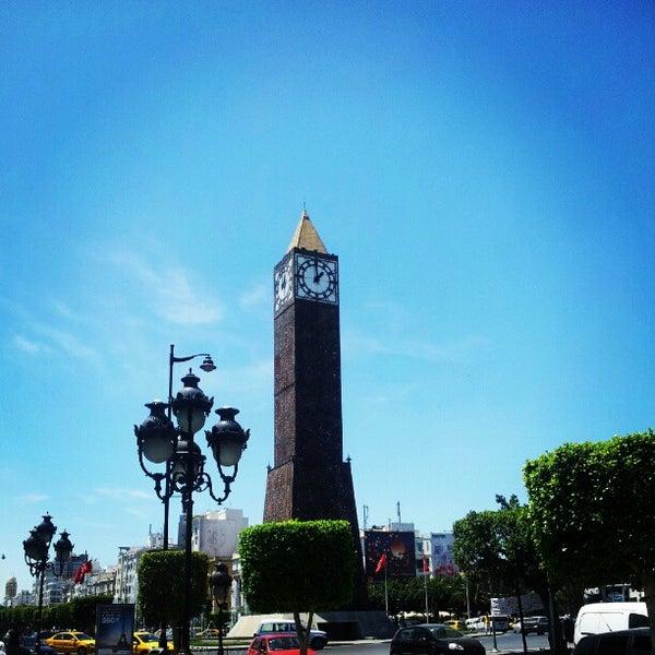 Photo taken at Avenue Habib Bourguiba by Charfeddine R. on 6/25/2012
