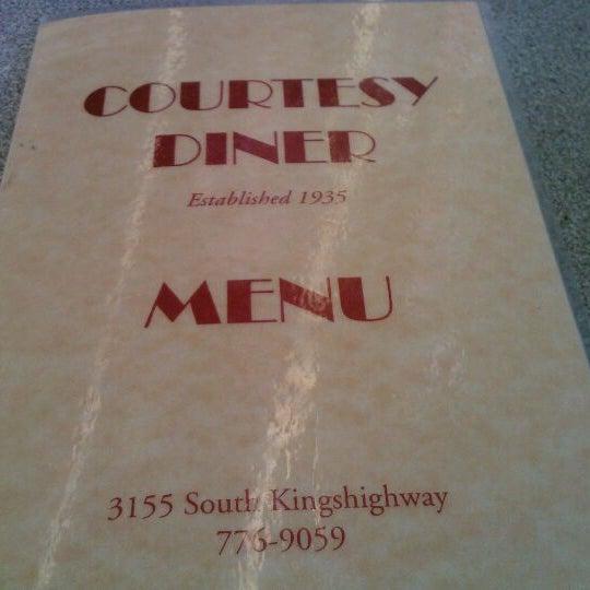 Photo taken at Courtesy Diner by Graham K. on 1/7/2012
