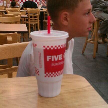 Photo taken at Five Guys by Vince M. on 11/22/2011