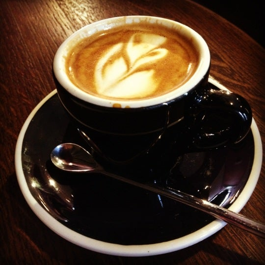 Photo taken at Stanza Coffee Bar by Krysta on 5/13/2012