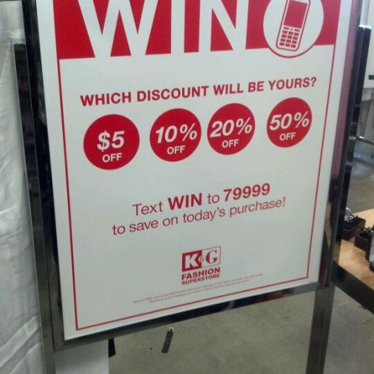K g fashions coupons 100