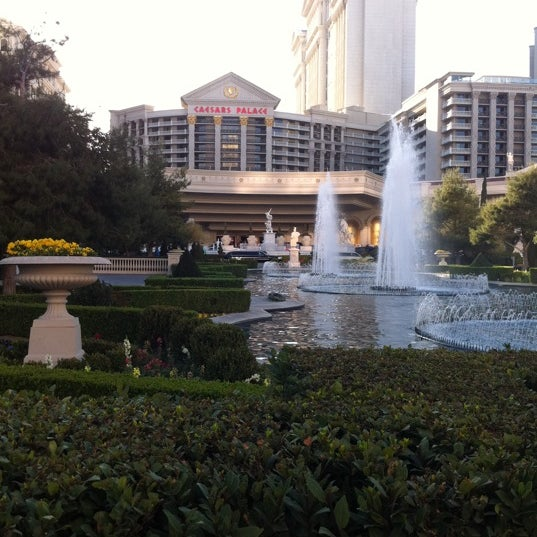 Photo taken at Caesars Palace Gardens by Masashi S. on 3/16/2012