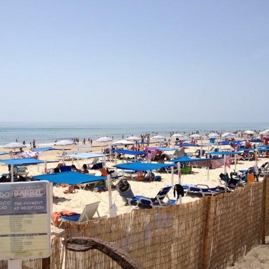 Photo taken at Praia do Barril by Nuno A. on 8/20/2012