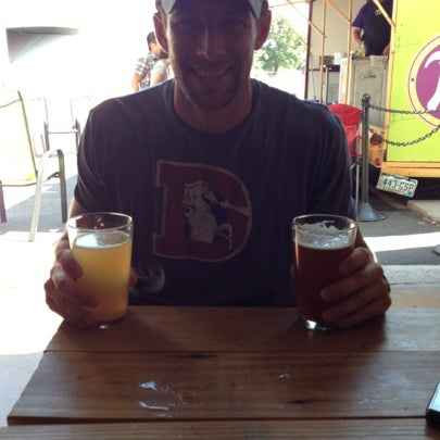 Photo taken at Strange Craft Beer Company by Amy O. on 8/4/2012