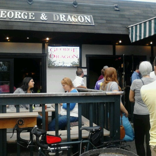 Photo taken at George & Dragon Pub by Adam W. on 8/9/2012