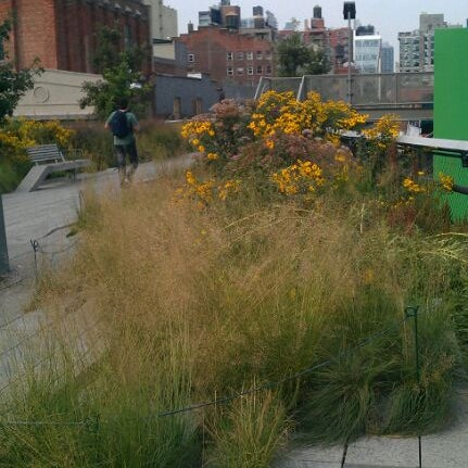 Photo taken at High Line 10th Ave Amphitheatre by Danielle H. on 8/9/2012
