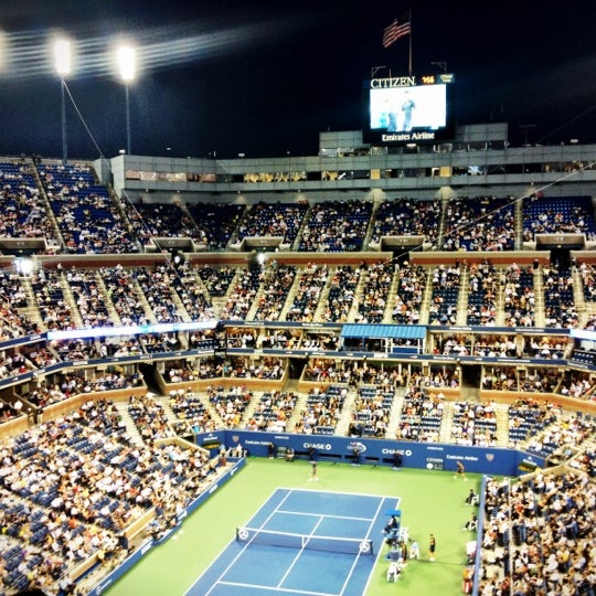 Photo taken at US Open Tennis Championships by Daniel D. on 8/29/2012