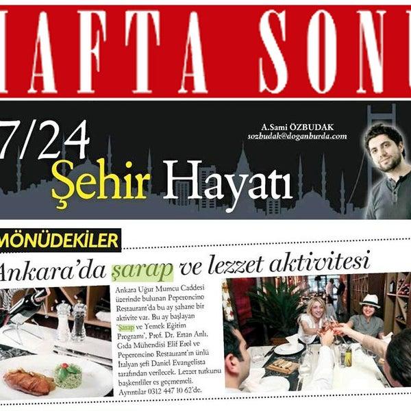 Peperoncino'da gastronomi eğitimleri, Hafta Sonu dergisinde!