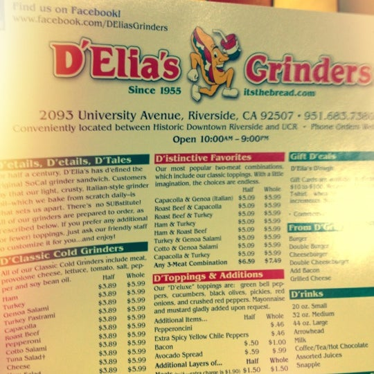 Photos at D'Elia's Grinders - Sandwich Place in Riverside