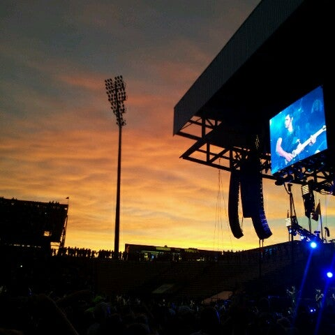 Photo taken at MAPFRE Stadium by Elizabeth D. on 8/6/2012