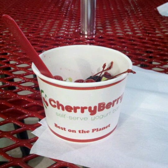 Photo taken at CherryBerry Yogurt Bar by Taryn on 3/30/2012